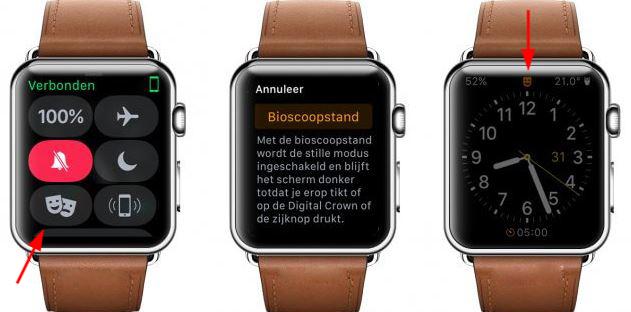 Theater Mode в лучших умных часах Apple Watch