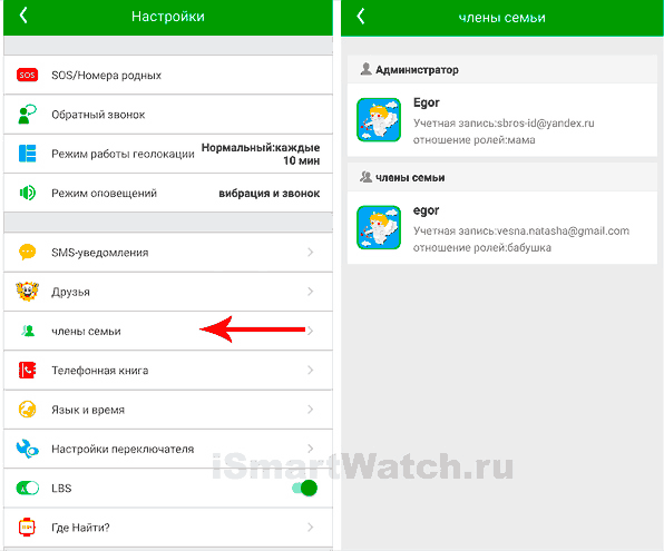 Setracker2 члены семьи