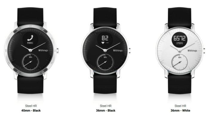Смарт часы Withings Steel HR размеры