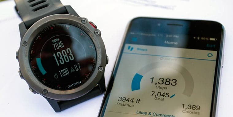 Fenix 3 со смартфоном