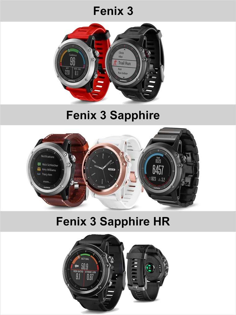 Fenix 3 модели