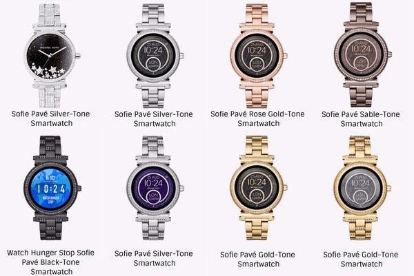 восемь вариантов женских часов Sofie