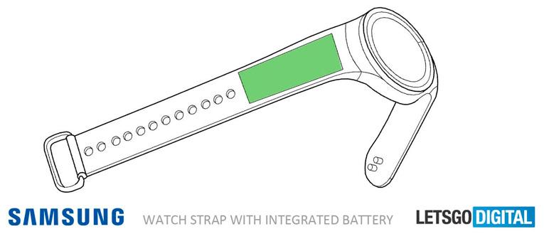 Батарея в ремешке часов Samsung