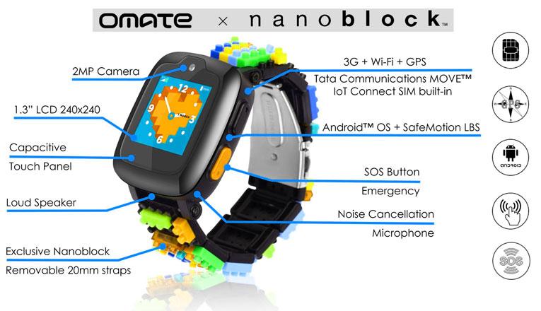 детские часы omate x nanoblock