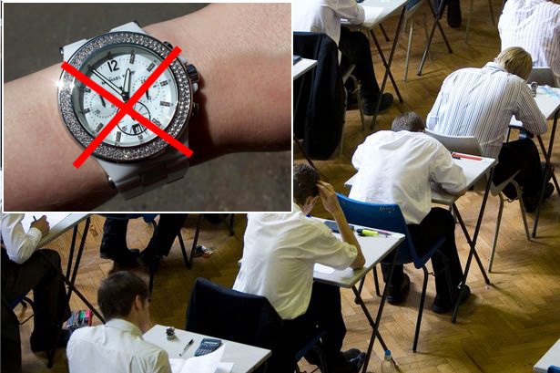 В британских школах на экзаменах запрещены часы
