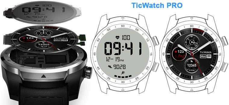ticwatch pro два экрана