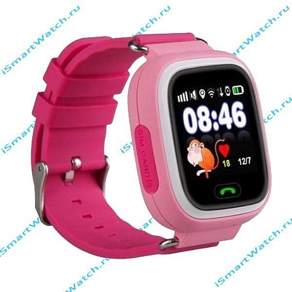 смарт-часы для девочек Q90 розовые