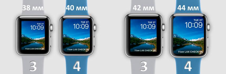 Apple watch cравнение 3 и 4