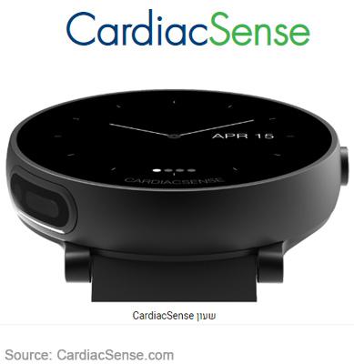 часы CardiacSense измеряют давление