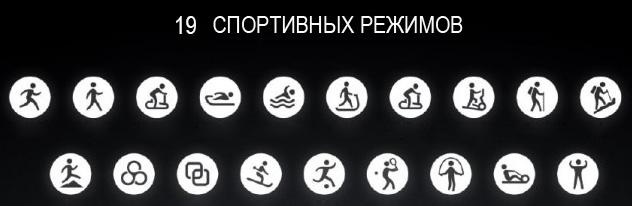 19 спортивных режимов