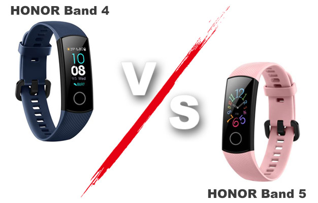 Honor Band 4 vs Honor Band 5