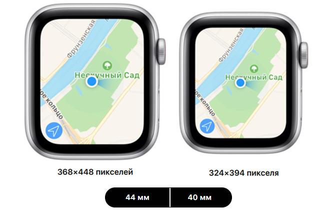 apple watch se 40mm 44mm сравнение