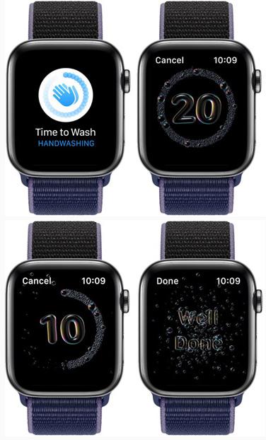 Мытье рук Apple Watch 6