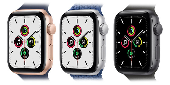 Цвета Apple Watch SE