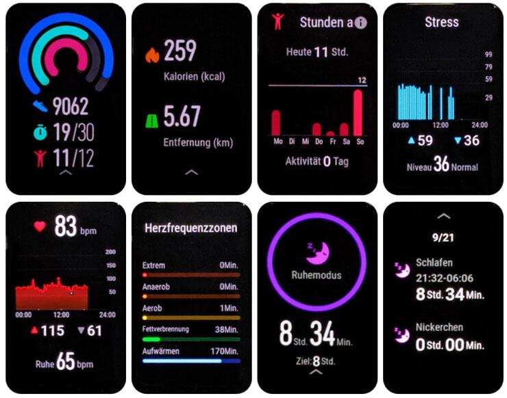 Huawei Watch Fit интерфейс