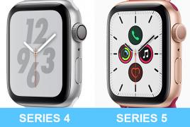 Сравнение Apple Watch Series 4 и Series 5